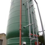 100 cubic metre sludge settlement tank South West Water